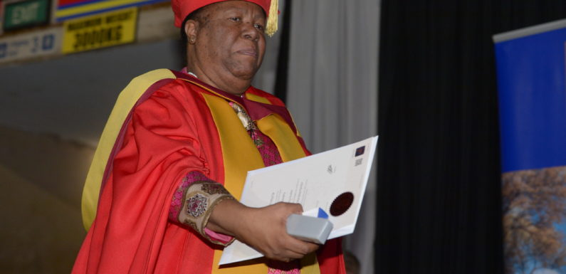 Minister Naledi Pandor walks the walk, graduating with PhD in Education
