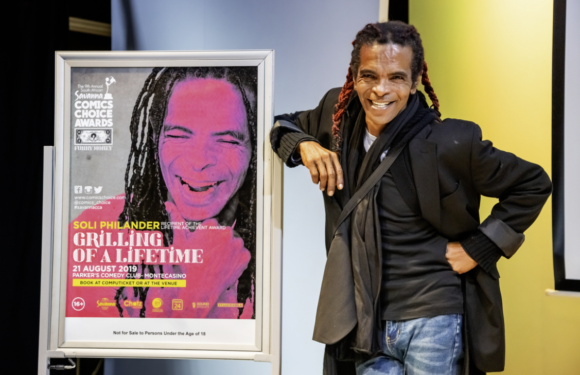 "Renegade merchant of laughter, Soli Philander to be grilled at savanna comics' choice awards ""grilling of a lifetime"""
