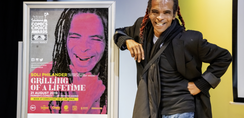 """Renegade merchant of laughter, Soli Philander to be grilled at savanna comics' choice awards """"grilling of a lifetime"""""""