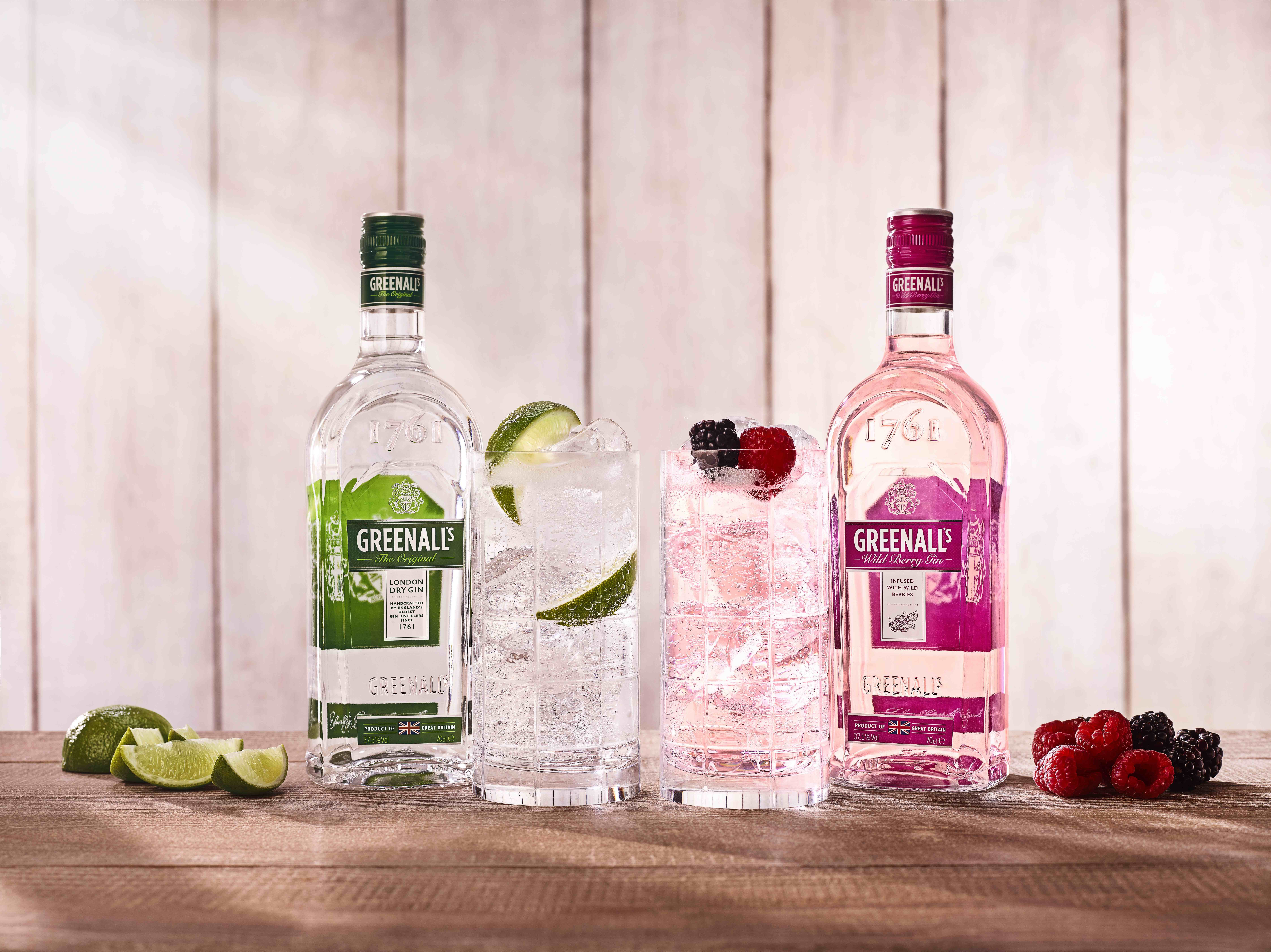 The first and original London dry gin, Greenall's available in south Africa