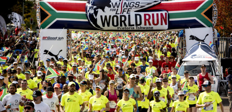 The 2019 Wings for Life World Run calls on South Africans to be Wingmen and Wingwomen