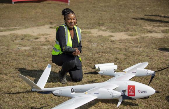 SANBS showcases a life-saving drone