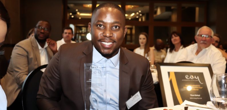 Theo Baloyi wins emerging business entrepreneur of the year 2019