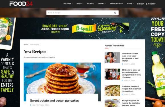 A freshened up Food24 inspires SA's kitchens